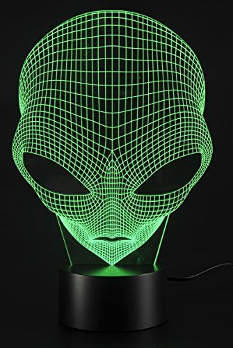 3d Lamp Usb Power 7 Colors Amazing Optical Illusion 3d Grow Led Lamp Alien Shapes Children Bedroom Night Light In 2020 Amazing Optical Illusions Bedroom Night Light 3d Lamp