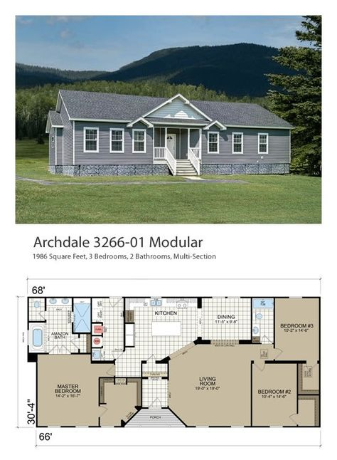 The Archdale Modular Home Archdale Modular Or Double Wide Project Small House Double Wide Home Modular Home Plans Mediterranean House Plans
