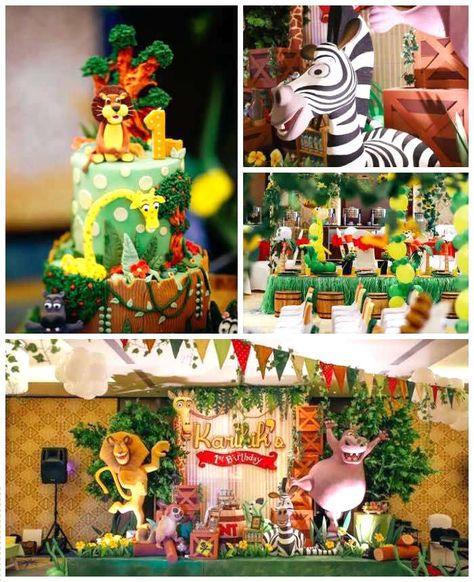 Madagascar Birthday Party Kid Partys Fiesta De Madagascar Torta