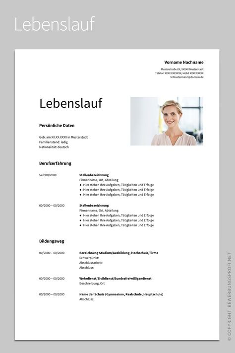 Lebenslauf 1 Albus Cover Letter For Resume German Language Learning Learn Russian