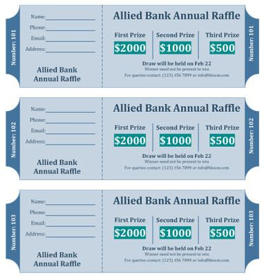 Raffle Flyer Template with 3 cash prizes Cash Raffle Pinterest - lunch ticket template
