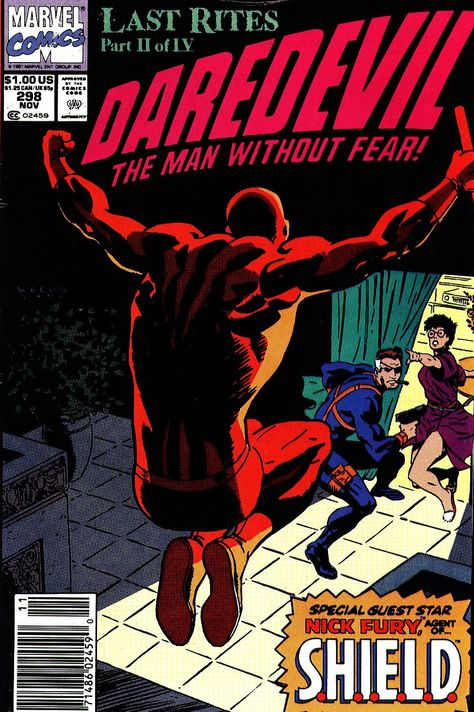 Nick Fury on the cover of Daredevil #298