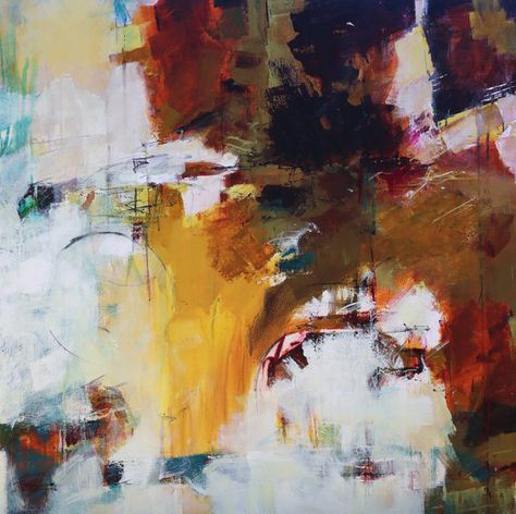 """ABSTRACT PAINTING MODERN Art """"Stellar"""" Acrylic on 36"""" x 36"""" canvas Direct from the studio of Elizabeth Chapman"""