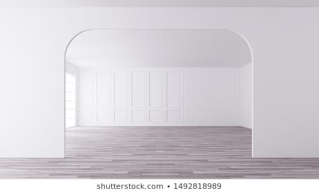 Arc With Classic Pattern Wall Decoration In Apartment 3d Rendering Can See Animation In My Video Living Room Interio Wall Patterns Classic Pattern Wall Decor