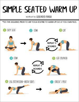 beginner yoga warm up poses  full body workout blog