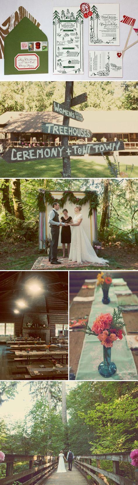 Camp Themed Weddings