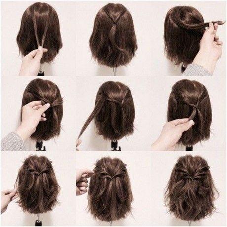 Einfache Schnelle Frisuren Fur Kurzes Haar Besten Haare Ideen Zopf Kurze Haare Hochsteckfrisuren Kurze Haare Kurze Haare Zopfe