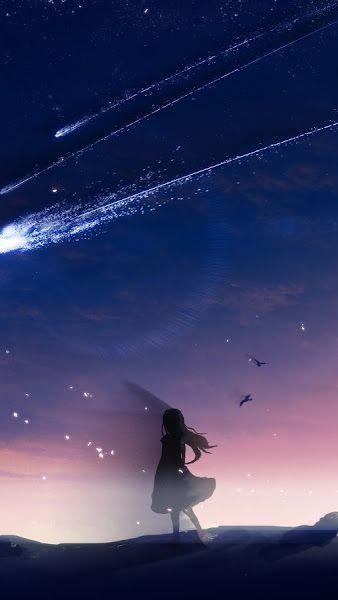 27 Anime Galaxy Wallpaper 4k Anime Night Sky Scenery Comet 4k 3840x2160 Wallpaper Download Download 14 Night Sky Wallpaper Night Sky Photography Sky Anime