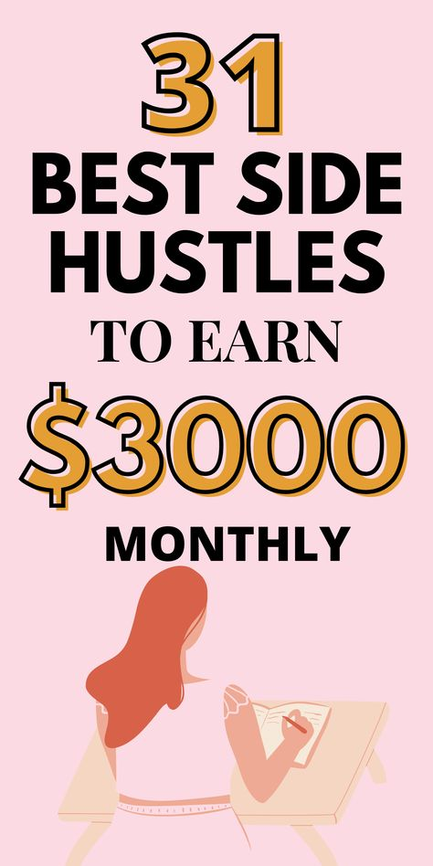 31 Best Side Hustle Ideas That Make $3000 Monthly- Free Passive Income To Make Money Online