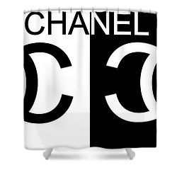 Black And White Chanel Shower Curtain For Sale By Dan Sproul