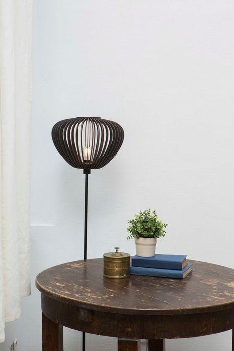 Dark Lamshade Floor Lightning Ceiling Light Dark Lamp Shade Dark Wood Lampshade Black Lamp Products Black Lamps Wood Lamps Lamp Shades