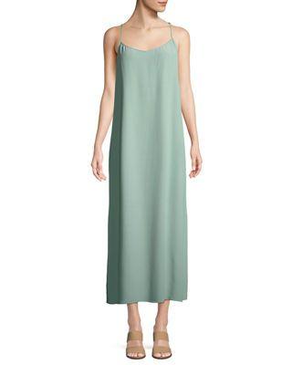 f6300b71e8 Eileen Fisher Solid Knit Slip Dress