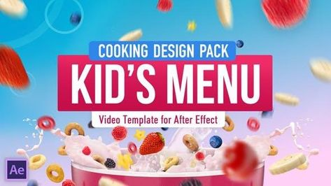 Cooking Kids Food Recipe Video Template - After Effects Template