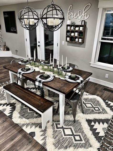 Looking for for ideas for farmhouse living room? Browse around this site for perfect farmhouse living room ideas. This cool farmhouse living room ideas seems fantastic. Farmhouse Dining Room Table, Farmhouse Decor, Farm House Dinning Room, Farmhouse Budget, Farmhouse Homes, Farmhouse Ideas, Urban Farmhouse, Farmhouse Design, Farmhouse Furniture