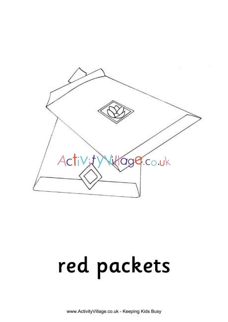 Red Packets Colouring Page Red Packet Coloring Pages Easy Coloring Pages