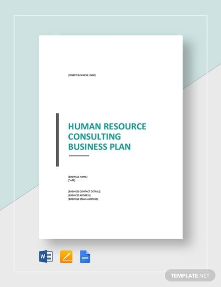 Human Resources Consulting Business Plan Template Free Pdf Word Doc Apple Mac Pages Google Docs Business Plan Template Word Business Plan Template Free Business Card Infographic