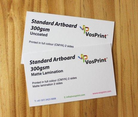Standard Business Cards 300gsm Print Matte Uncoated Businesscard Vosprint