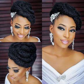 Bridal Look Natural Hair Natural Wedding Hairstyles Natural
