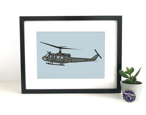 Huey Helicopter. Instant Download from Etsy Shop: www.bevellestudios.etsy.com   USAF. Army. Helicopter Illustration. Aviation. Military. Helicopter Drawing. Military Memrobelia. Army Surplus. Vector Drawing. Vector Art. Aerospace. Cartoon.