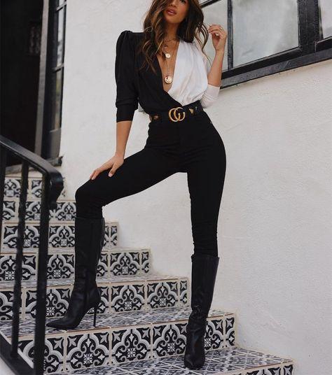 Casual Sexy Deep V Neck Loose Color Collision Long Sleeve Shirt – rileyrylee