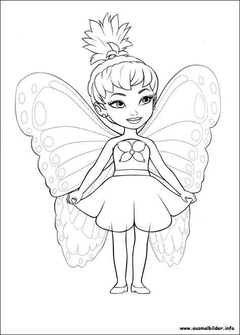 barbie mariposa malvorlagen  print  fairy coloring pages