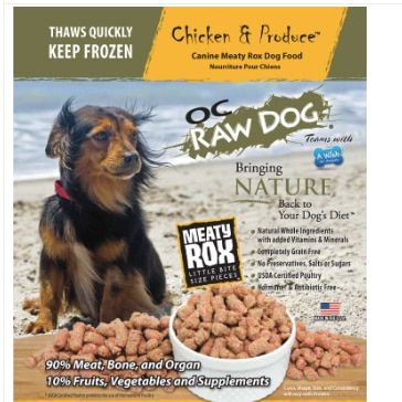 O C Raw Frozen Meaty Rox Chicken Produce 7 Lb Dog Food Dog