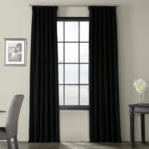 Exclusive Fabrics Furnishings Blackout Signature Warm Black Blackout Velvet Curtain 50 In W X 96 In L 1 Pan In 2020 Velvet Curtains Panel Curtains Custom Drapes