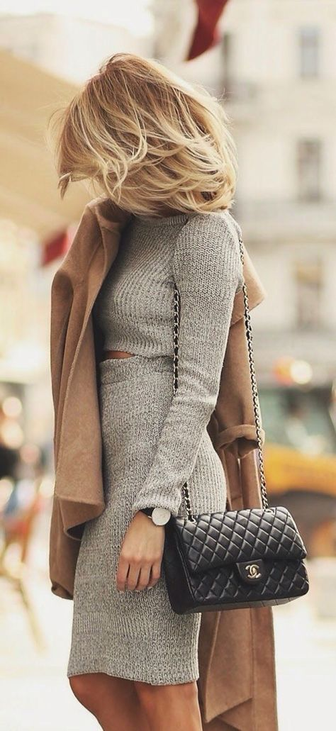 Sweater two piece + trench