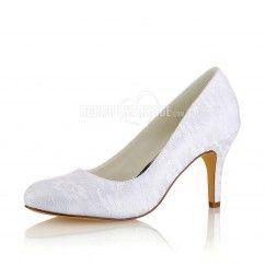 Empeigne Chaussures Dentelle Pas De Talon Cher En 8cm Mariée gbyf76