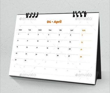 Desk Calendar 2019 Planner 4 Dengan Gambar Desain