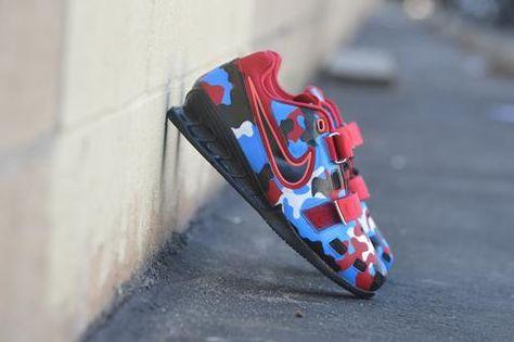 Custom Painted Camo Nike Romaleos