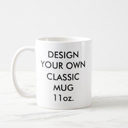 Custom Personalized 11oz Clic White Mug Zazzle