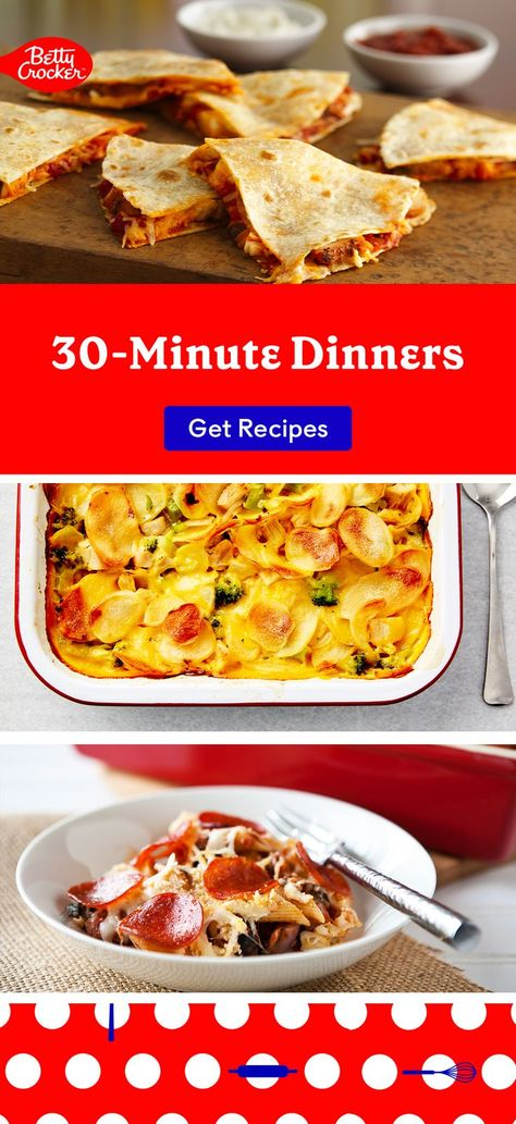 Looking for easy fall recipe ideas? These 30-Minute Dinners double as great back to school meals! Pin them today.