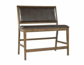 Santa Clara Upholstered Counter Height Dining Bench My Home Decor