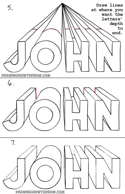 , How to Draw Letters in One Point Perspective - Perspective Drawing Tutorial -. , How to Draw Letters in One Point Perspective - Perspective Drawing Tutorial - Perspective Drawing Lessons, One Point Perspective, Perspective Art, Drawing For Kids, Art For Kids, Drawing Drawing, Children Drawing, Art Children, Kids Drawing Lessons