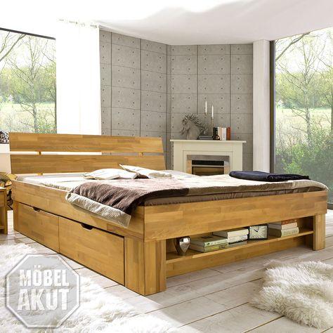 Bett  - schlafzimmer komplett massiv