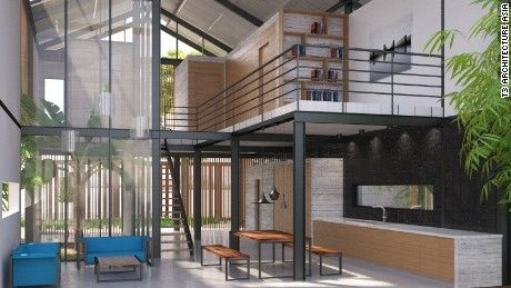 Dubbed The Green Industrial House, This Wood And Metal Home Comes Complete  With Aerated Walls