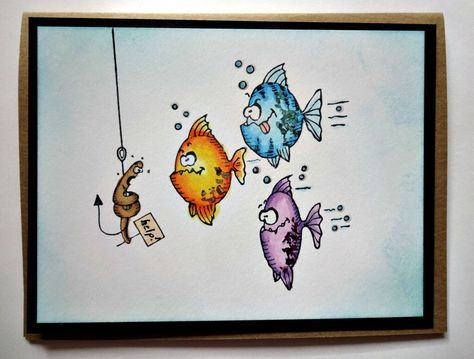 Funny Card For Men Fishing Dad Masculine Birthday To Husband