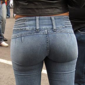 Latina in tight jeans