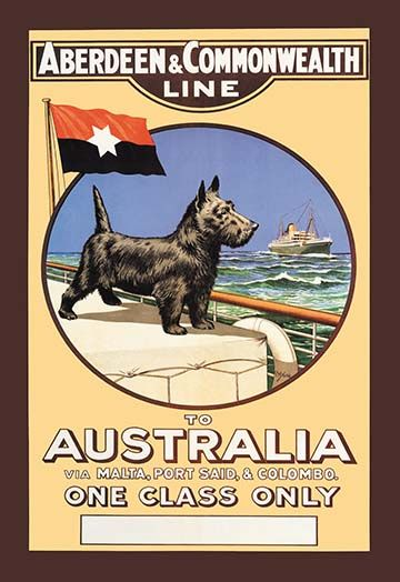 Aberdeen And Commonwealth Cruise Line To Australia Art Print