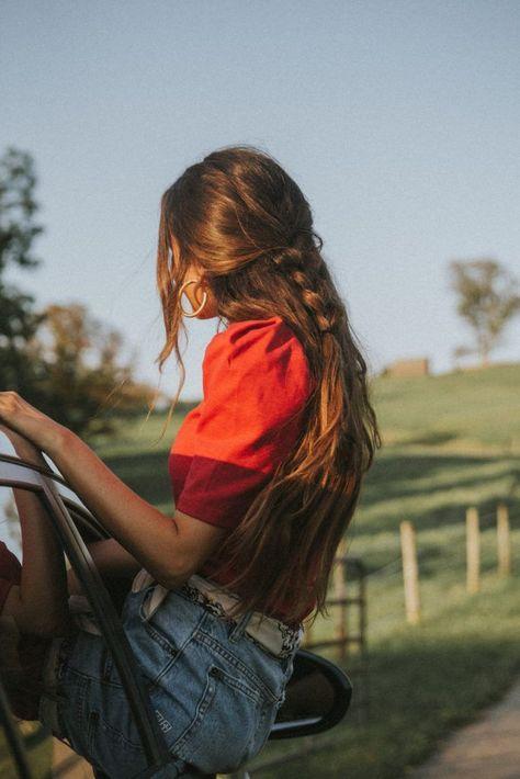 Coupe de cheveux et coiffure : 50 idées pour l'automne - Trendy Mood Formal Hairstyles, Pretty Hairstyles, Easy Hairstyles, Layered Hairstyles, Fantasy Hairstyles, Hairstyle Ideas, Fashion Hairstyles, Bandana Hairstyles, Hairstyles 2018