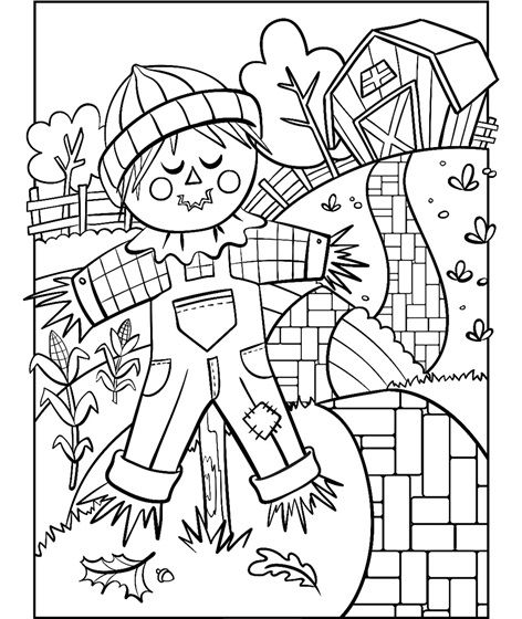 Scarecrow Free Coloring Pages Thanksgiving Coloring Pages Coloring Pages
