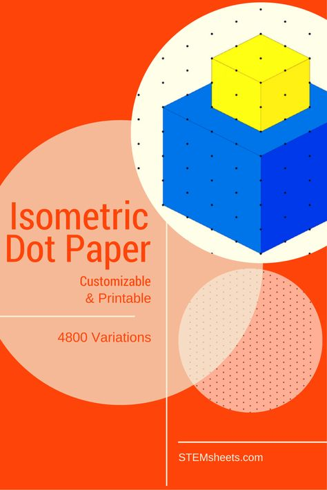 Isometric Dot Paper - Customizable and Printable STEM - Physical - isometric dot paper