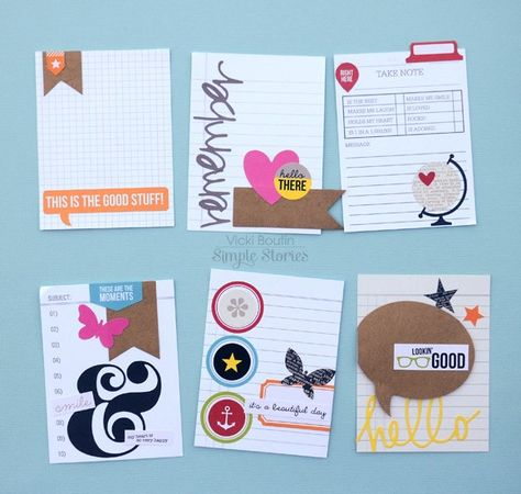DIY Cards by Vicki Boutin - Scrapbook.com - Create your own pocket page inserts using Simple Stories DIY collection.