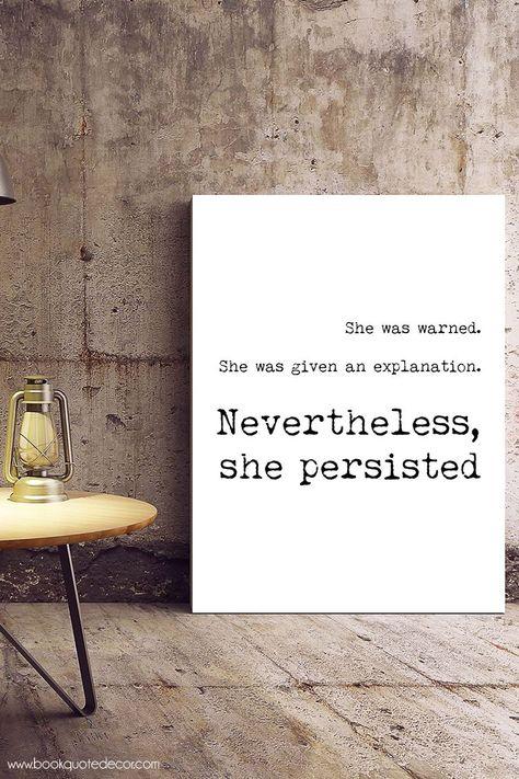 Persist Poster Elizabeth Warren Gift For Home Decor Wall Art Print Poster