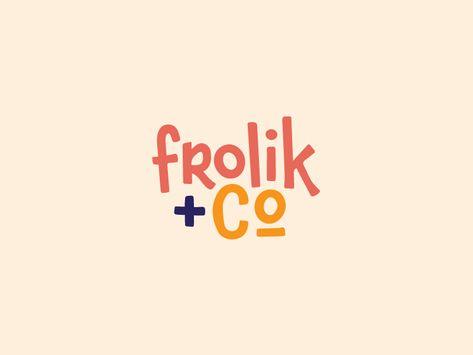 Frolik+Co. designed by Hannah Alspaugh. Connect with them on Dribbble; Self Branding, Logo Branding, Kids Branding, Corporate Branding, Marca Personal, Personal Logo, Personal Branding, Logo Type, Logo Inspiration