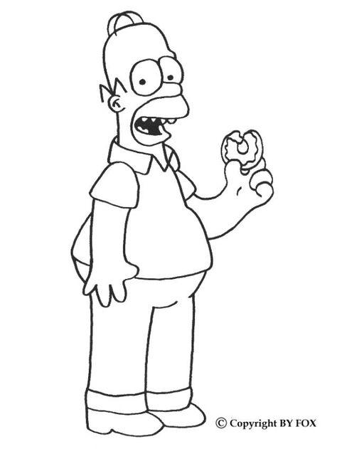 Coloriage Homer Simpson Homer A Colorier Gratuitement