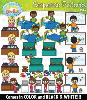 Sequencing Is A Reading Skill Some Students Struggle With These Sequencing Pictures Will Help Them Grasp The Conc Clip Art Action Pictures Sequencing Pictures
