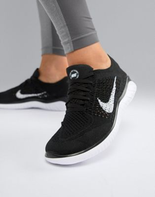 womens black trainers
