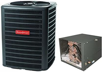 Goodman 2 5 Ton 14 Seer Condenser With Horizontal Coil Gsx16s301 Chpf3636b6 3 8 X 7 8 X 50 Line Set In 2020 Air Conditioning System Amazon Tools Split System